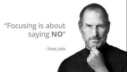 Focus means saying No