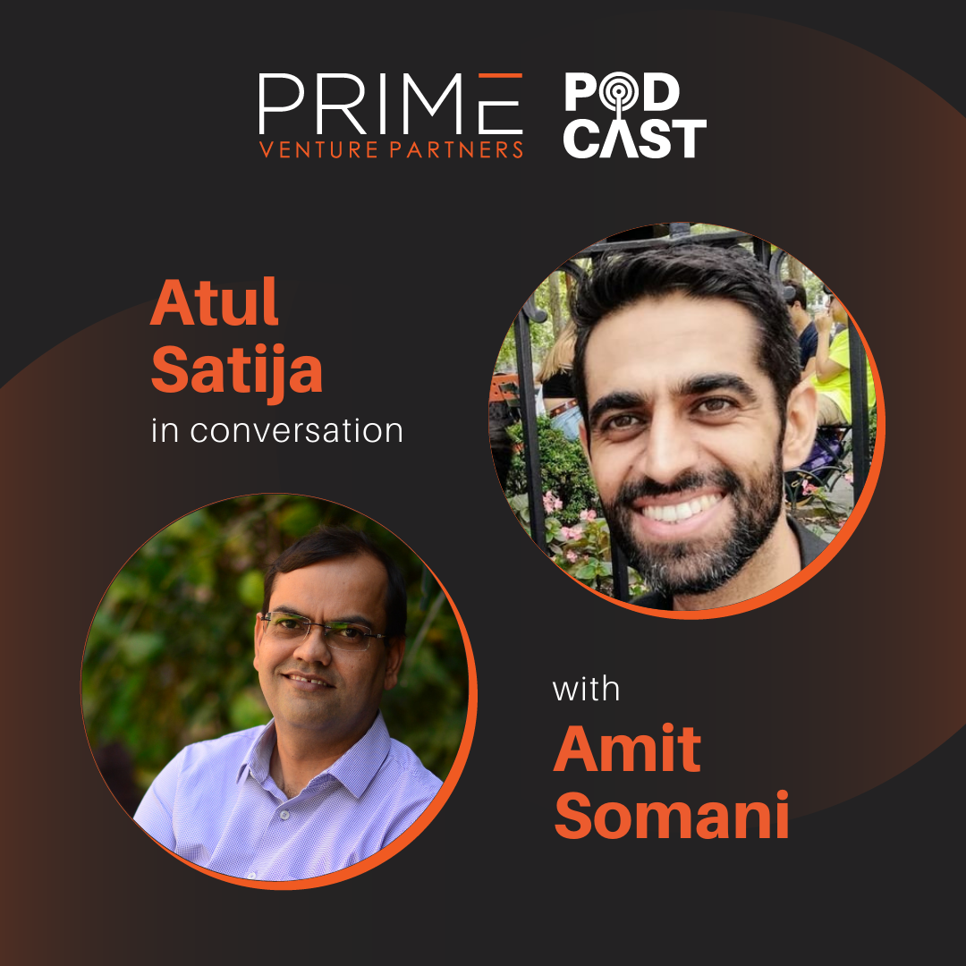 A graphic with guest(Hitesh Oberoi) and host's (Amit Somani) name and image