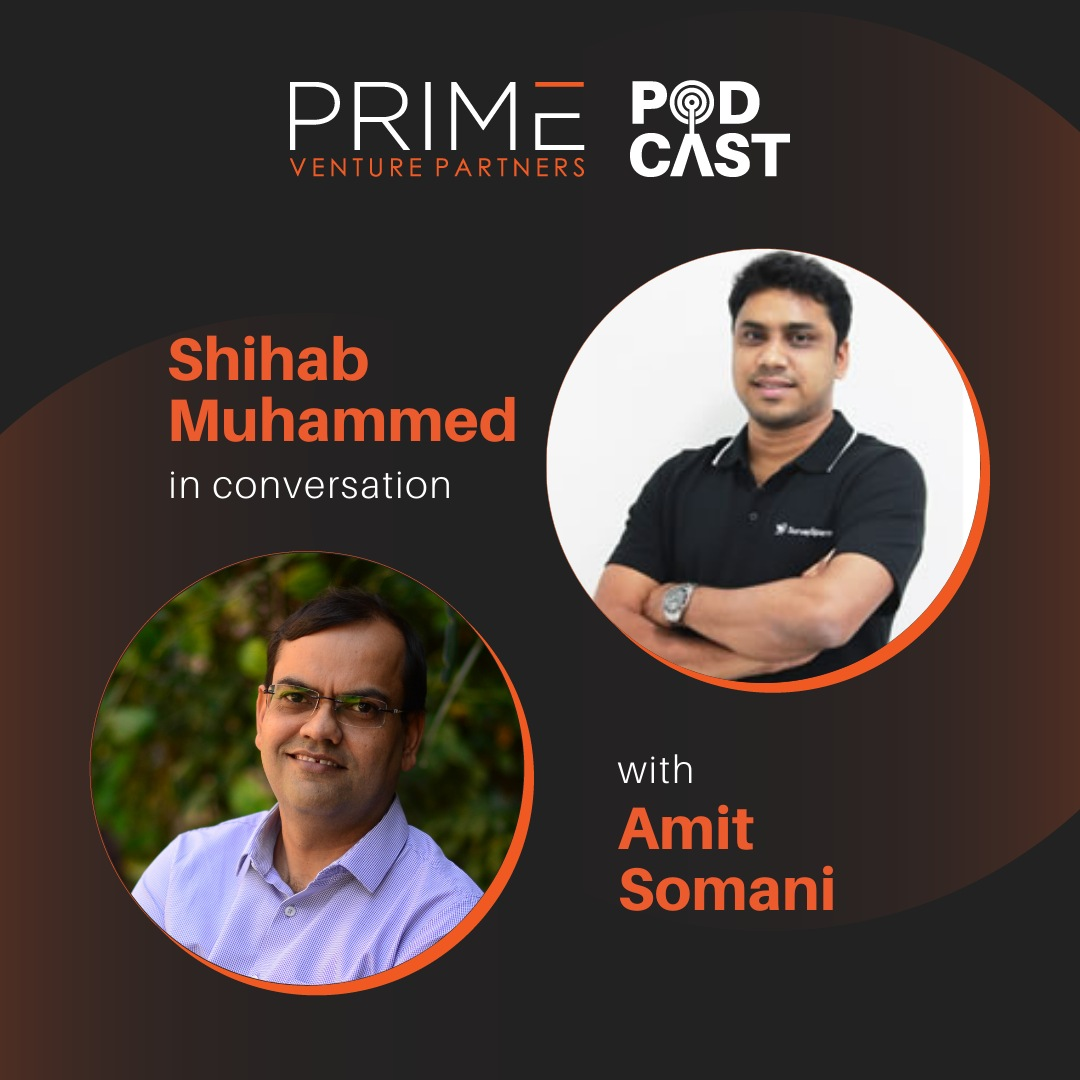 A graphic with guest(Shihab Muhammed) and host's (Amit Somani) name and image